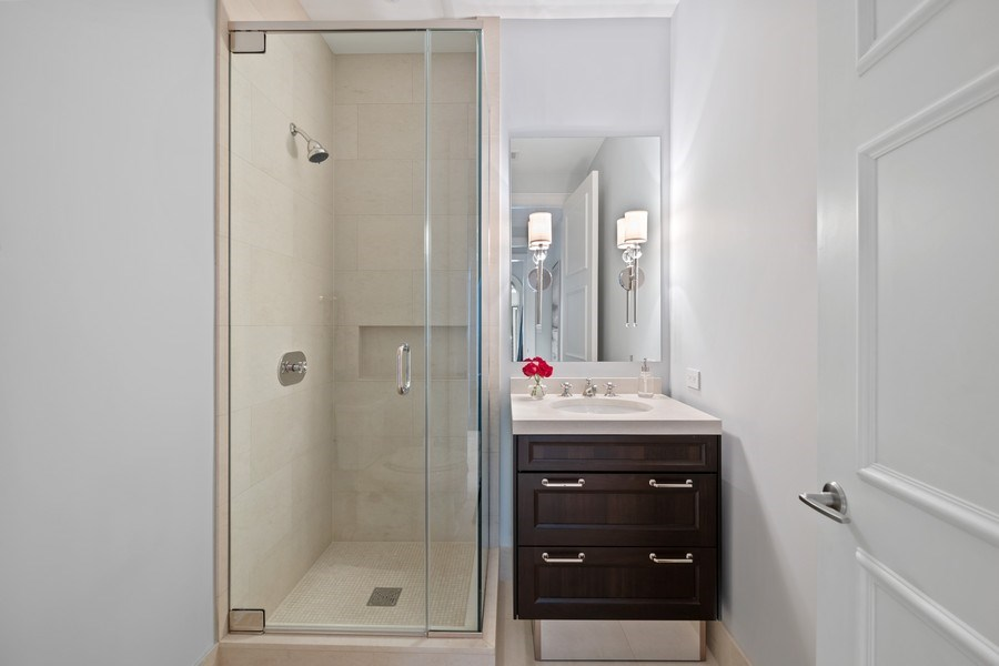 Real Estate Photography - 118 E. Erie, #20C, Chicago, IL, 60611 - 2nd Bathroom