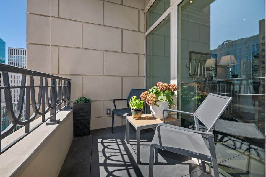 Real Estate Photography - 118 E. Erie, #20C, Chicago, IL, 60611 - Balcony