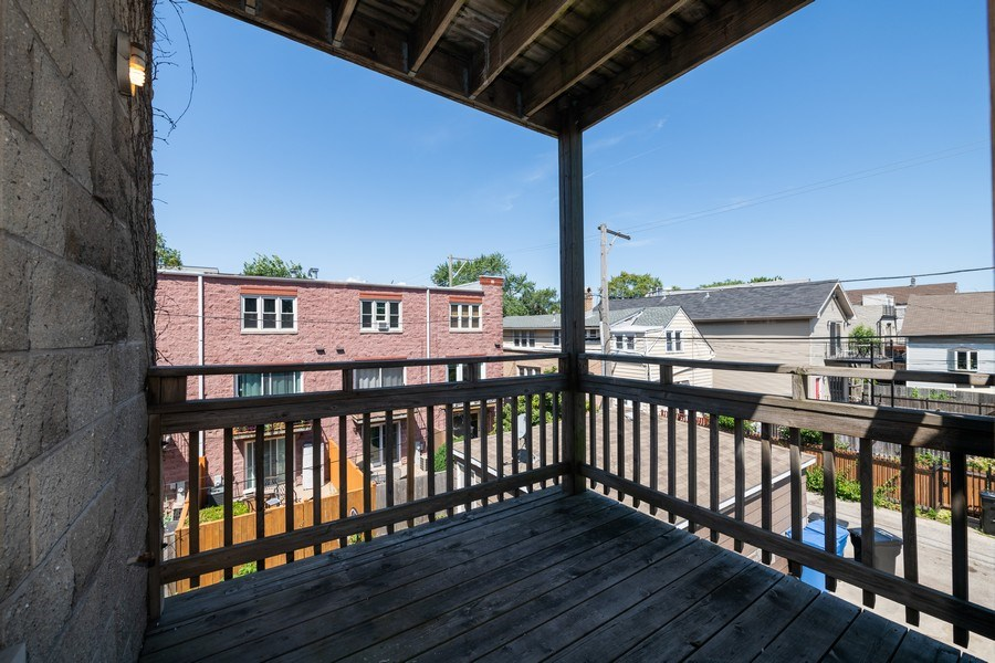 Real Estate Photography - 1814 W. Armitage Avenue, Unit 2, Chicago, IL, 60647 - Deck