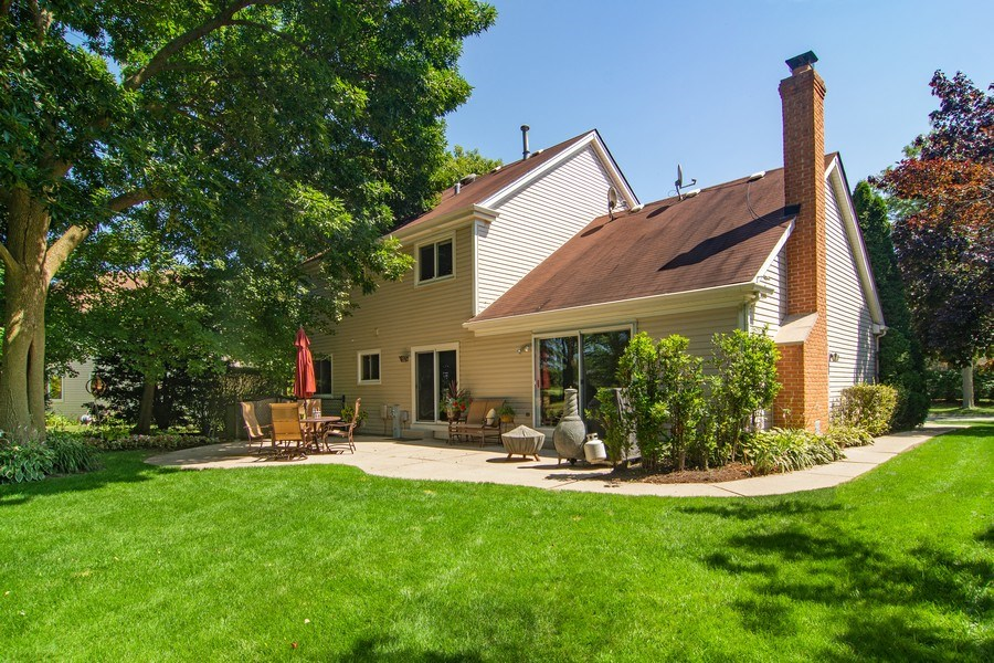 Real Estate Photography - 60 CHESTNUT TERRACE, BUFFALO GROVE, IL, 60089 - Rear View