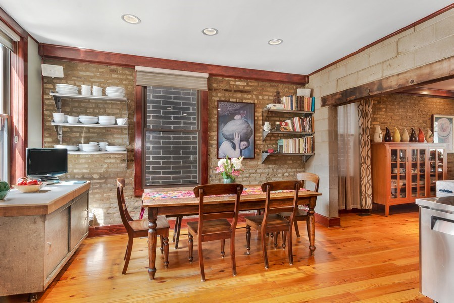 Real Estate Photography - 949 W. Huron St., Chicago, IL, 60642 - Eat-in Kitchen