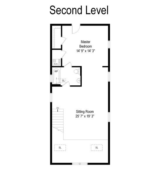 Real Estate Photography - 949 W. Huron St., Chicago, IL, 60642 - Second Level Floor Plan