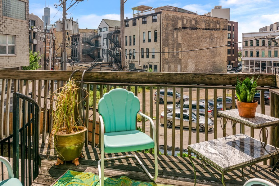 Real Estate Photography - 949 W. Huron St., Chicago, IL, 60642 - Master Suite Balcony