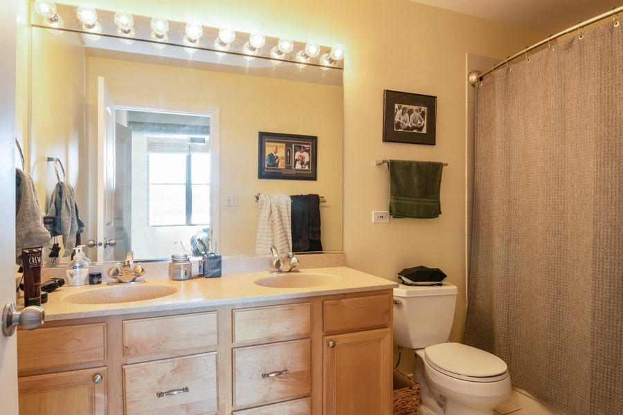 Real Estate Photography - 1635 W Belmont #515, Chicago, IL, 60657 - Master Bathroom