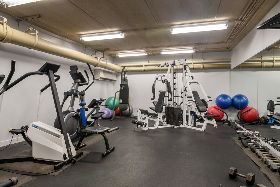 Real Estate Photography - 1635 W Belmont #515, Chicago, IL, 60657 - Gym