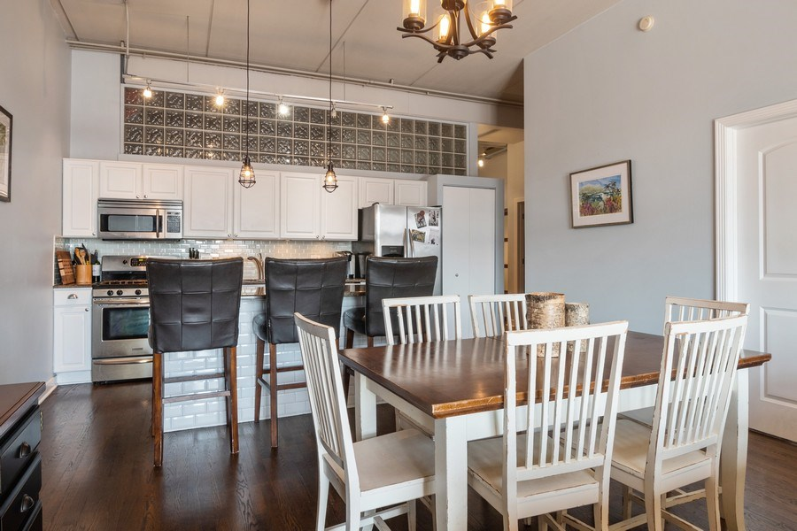 Real Estate Photography - 1635 W Belmont #515, Chicago, IL, 60657 - Kitchen / Dining Room