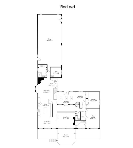 Real Estate Photography - N2293 Chapin Road, Linn, WI, 53147 - Floor Plan
