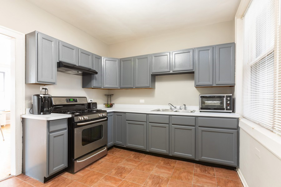 Real Estate Photography - 6727 S Merrill Ave #2N, Chicago, IL, 60649 - Kitchen