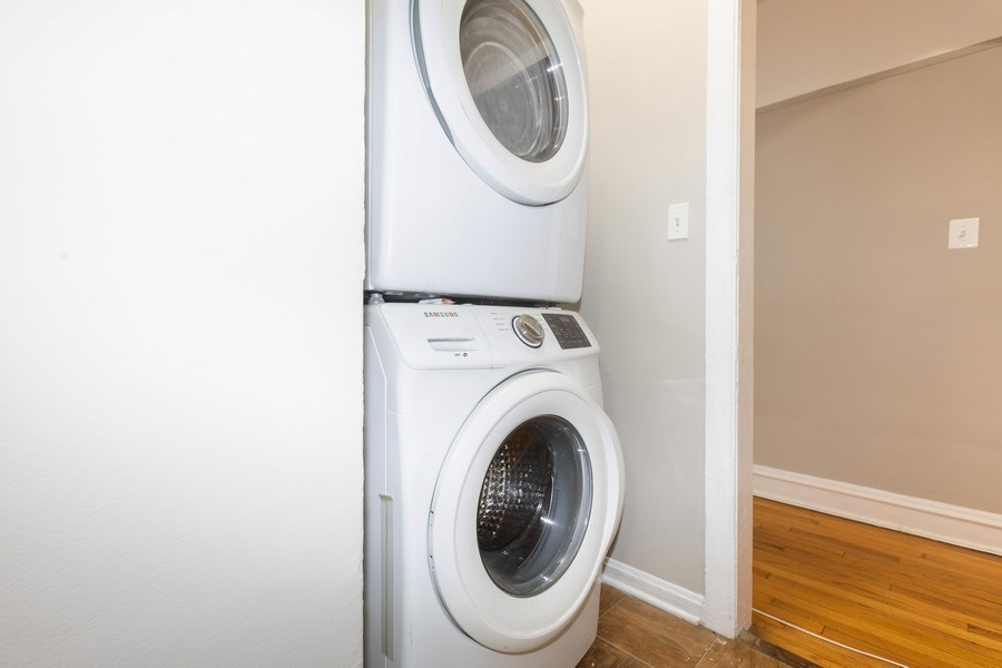 Real Estate Photography - 6727 S Merrill Ave #2N, Chicago, IL, 60649 - Laundry Room