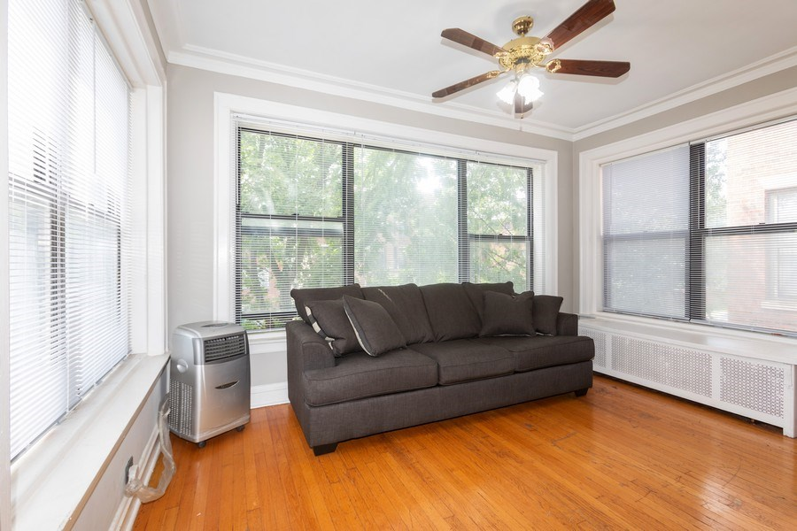 Real Estate Photography - 6727 S Merrill Ave #2N, Chicago, IL, 60649 - Sun Room