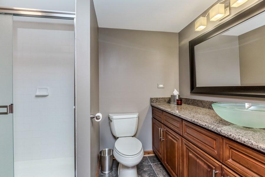 Real Estate Photography - 5175 Thornbark, Hoffman Estates, IL, 60010 - Full Bath in Lower Level