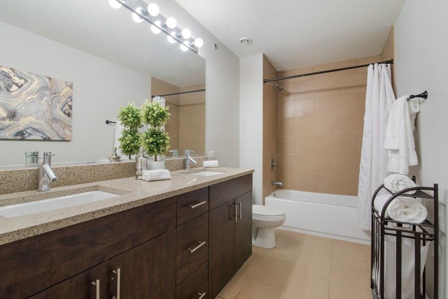 Real Estate Photography - 1224 W Van Buren, Apt 623, Chicago, IL, 60607 - Master Bathroom