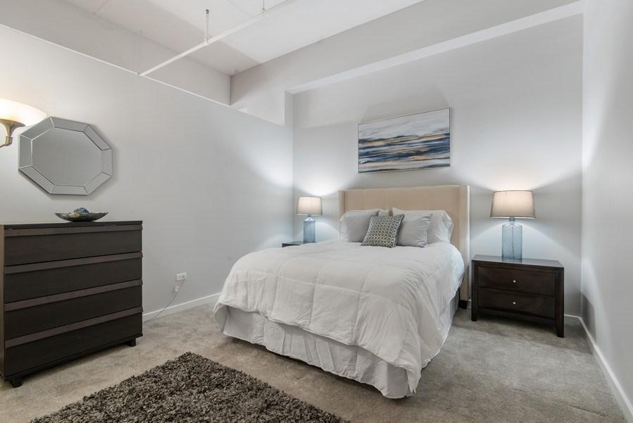 Real Estate Photography - 1224 W Van Buren, Apt 623, Chicago, IL, 60607 - Master Bedroom