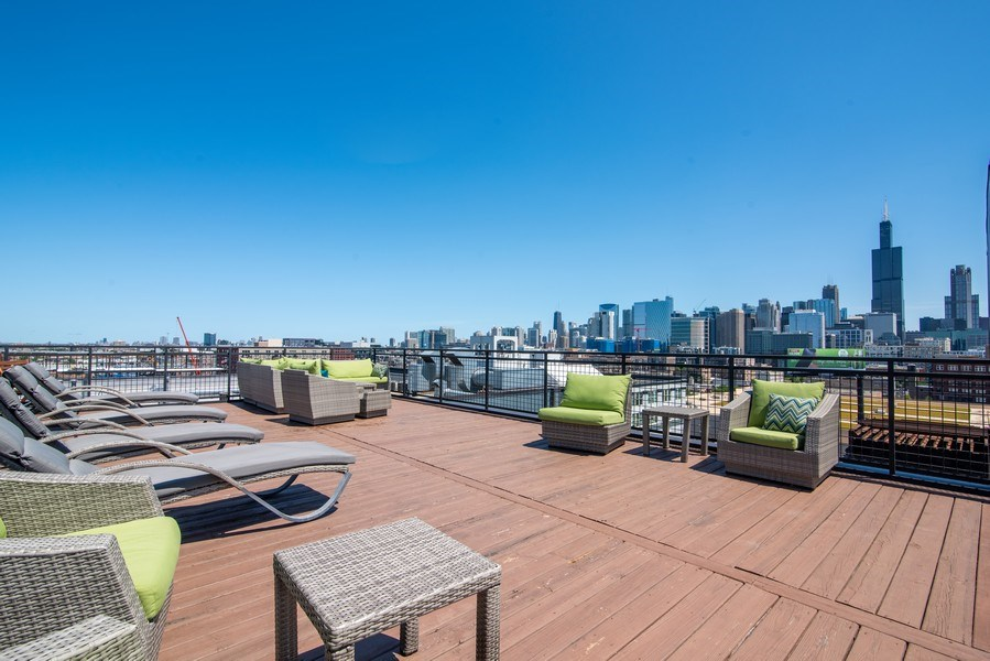 Real Estate Photography - 1224 W Van Buren, Apt 623, Chicago, IL, 60607 - Roof Deck