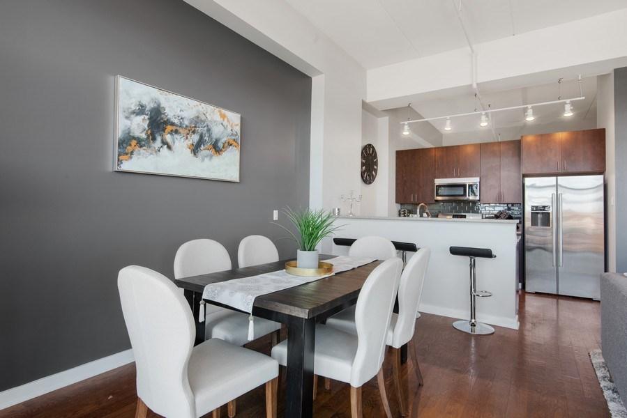 Real Estate Photography - 1224 W Van Buren, Apt 623, Chicago, IL, 60607 - Kitchen / Dining Room