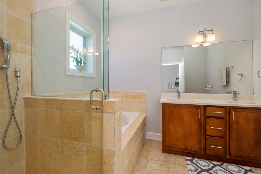 Real Estate Photography - 5642 N Broadway #3N, Chicago, IL, 60660 - Master Bathroom