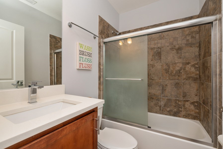 Real Estate Photography - 5642 N Broadway #3N, Chicago, IL, 60660 - 2nd Bathroom