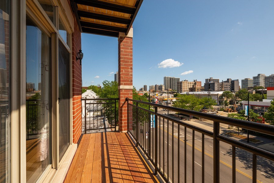 Real Estate Photography - 5642 N Broadway #3N, Chicago, IL, 60660 - Balcony