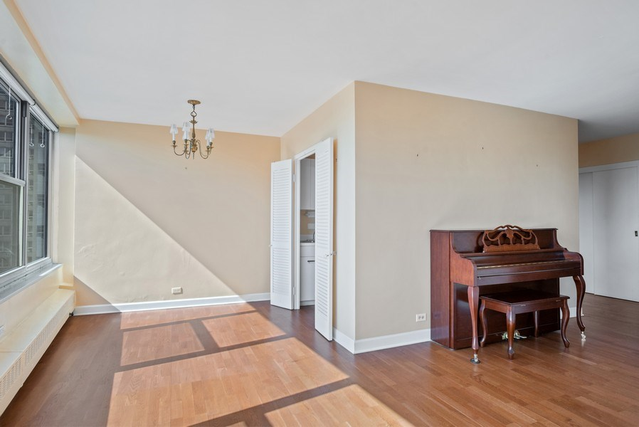 Real Estate Photography - 3900 N Lake Shore Drive, Unit 10E, Chicago, IL, 60613 - Living Room/Dining Room
