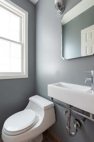 Real Estate Photography - 7836 Kildare, Skokie, IL, 60076 - Half Bath
