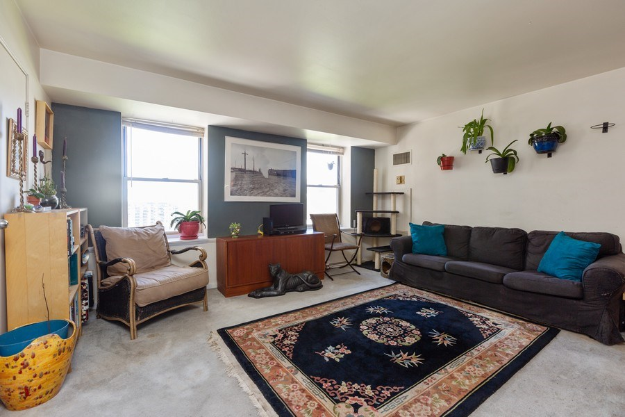 Real Estate Photography - 40 East 9th St, Unit 1314, Chicago, IL, 60605 - Living Room