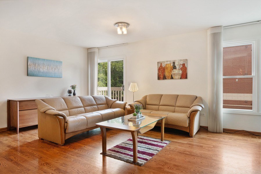 Real Estate Photography - 3350 Church St, Evanston, IL, 60203 - Living Room