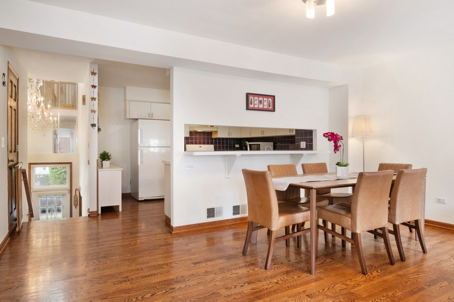 Real Estate Photography - 3350 Church St, Evanston, IL, 60203 - Kitchen / Dining Room