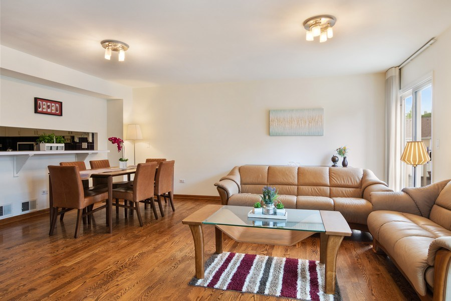 Real Estate Photography - 3350 Church St, Evanston, IL, 60203 - Living Room/Dining Room