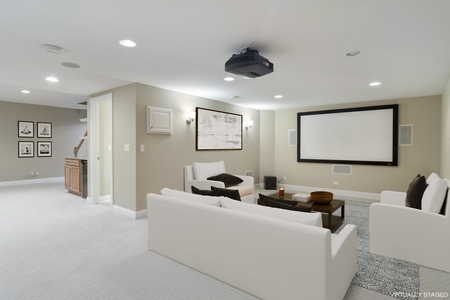 Real Estate Photography - 28385 W Harvest Glen Cir, Cary, IL, 60013 - Media/Theater Room