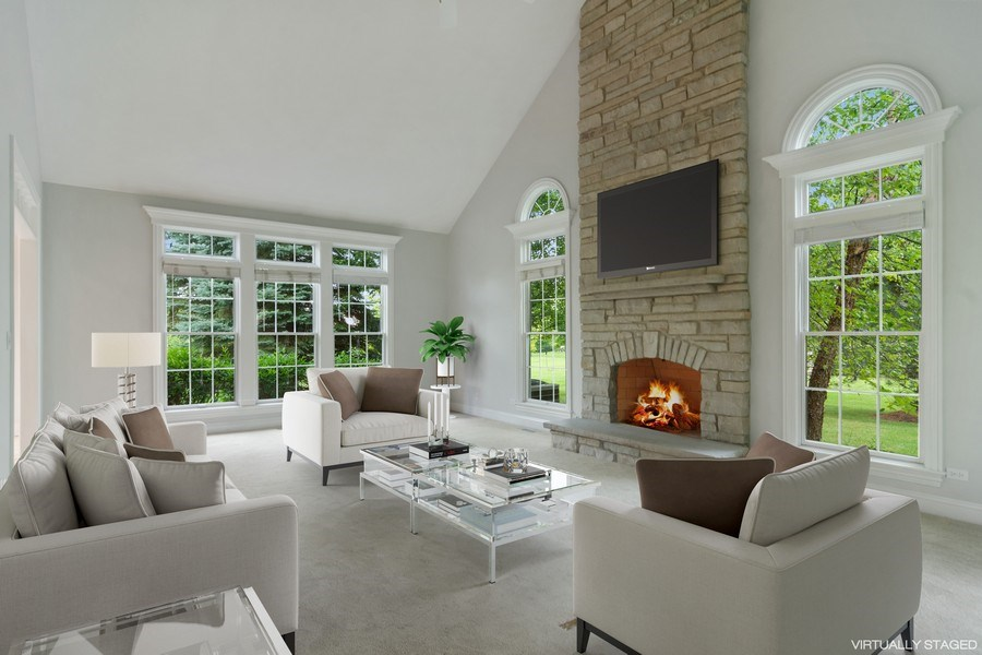 Real Estate Photography - 28385 W Harvest Glen Cir, Cary, IL, 60013 - Family Room