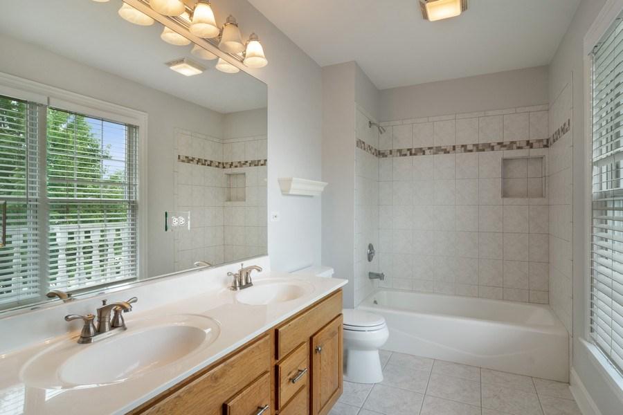 Real Estate Photography - 28385 W Harvest Glen Cir, Cary, IL, 60013 - 2nd Floor Hall Bath