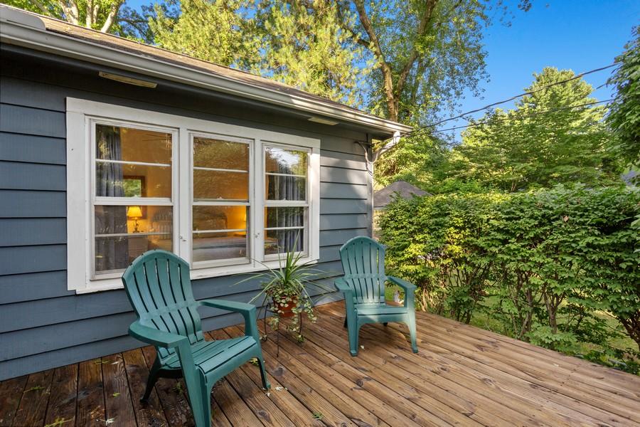 Real Estate Photography - 15616 Nannene, Union Pier, MI, 49129 - Front Deck
