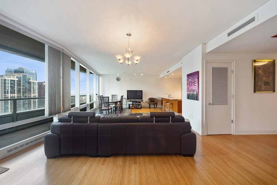 Real Estate Photography - 340 E Randolph St, Unit 2902, Chicago, IL, 60601 - Living Room