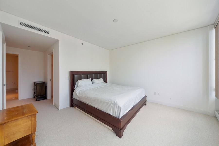 Real Estate Photography - 340 E Randolph St, Unit 2902, Chicago, IL, 60601 - Master Bedroom