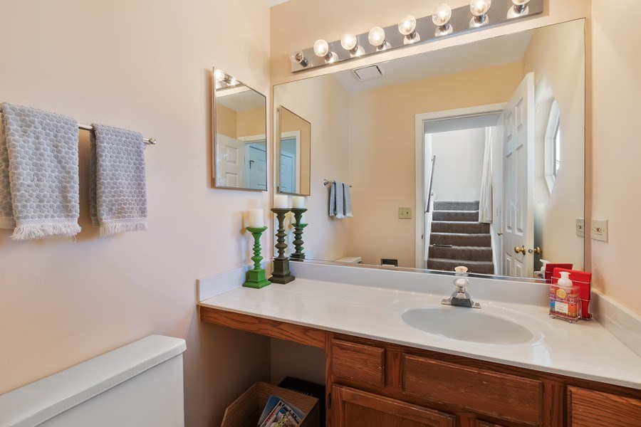 Real Estate Photography - 838 Waterview Drive, Round Lake Park, IL, 60073 - Powder Room