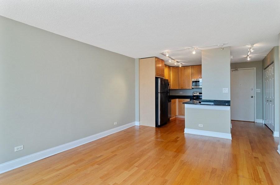 Real Estate Photography - 450 W Briar Pl, Unit 10k, Chicago, IL, 60657 - Kitchen / Living Room