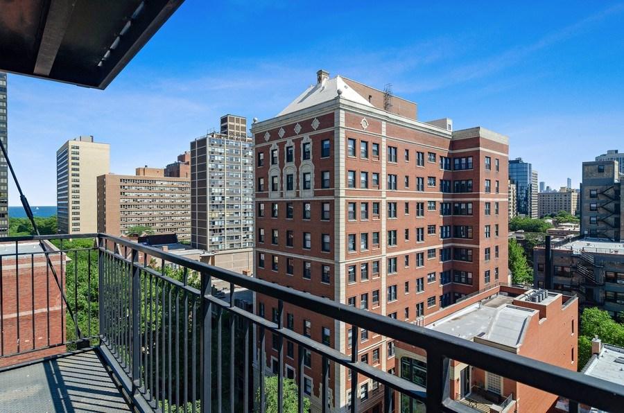 Real Estate Photography - 450 W Briar Pl, Unit 10k, Chicago, IL, 60657 - Balcony