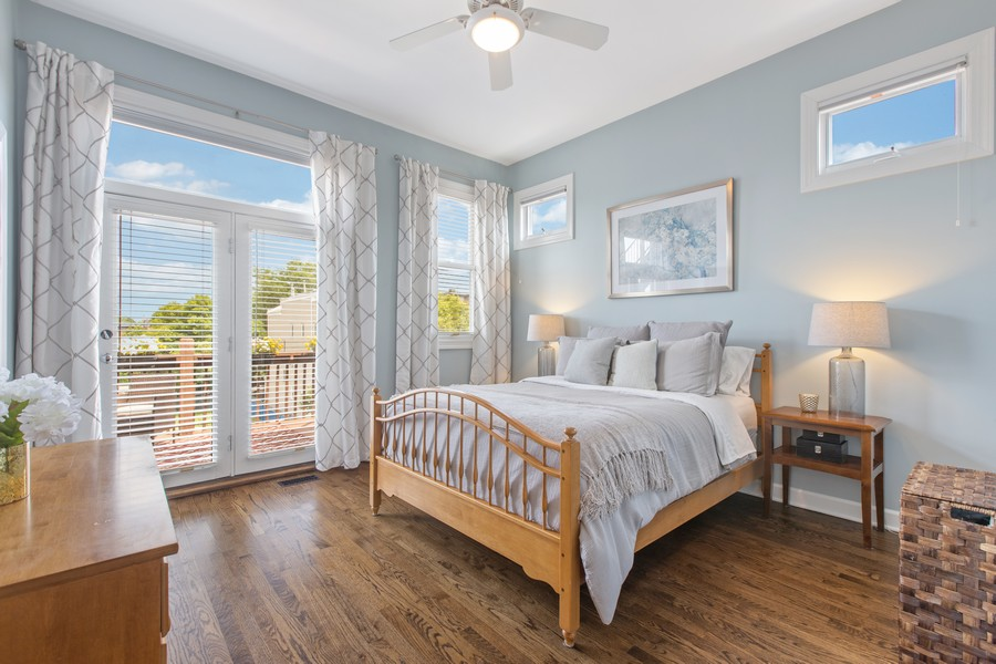 Real Estate Photography - 1226 West Melrose #3, Chicago, IL, 60657 - Master Suite with Access to Private Back Deck