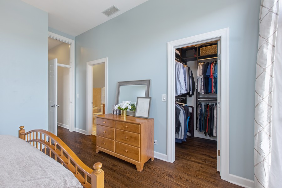 Real Estate Photography - 1226 West Melrose #3, Chicago, IL, 60657 - Master Bedroom with Attached Bath & Walk-In Closet