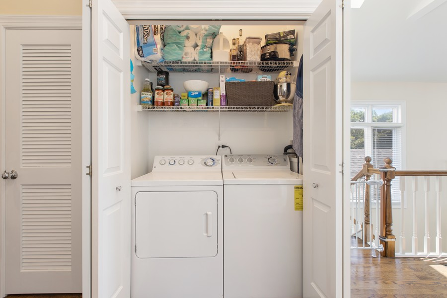 Real Estate Photography - 1226 West Melrose #3, Chicago, IL, 60657 - Side-by-Side Washer Dryer with Extra Storage