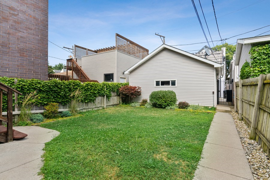 Real Estate Photography - 3417 N Oakley, Chicago, IL, 60657 - Back Yard