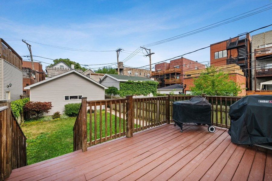 Real Estate Photography - 3417 N Oakley, Chicago, IL, 60657 - Deck