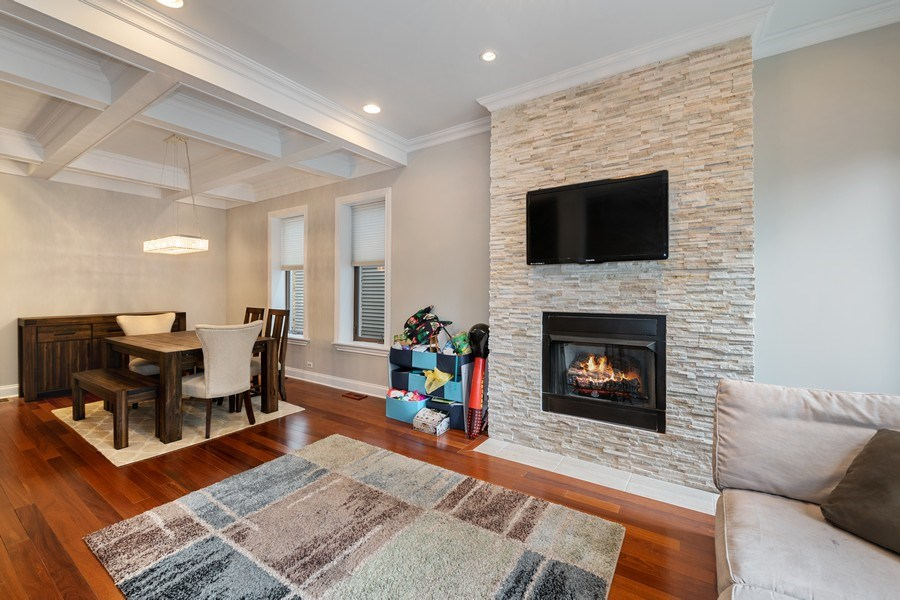 Real Estate Photography - 3417 N Oakley, Chicago, IL, 60657 - Living Room / Dining Room
