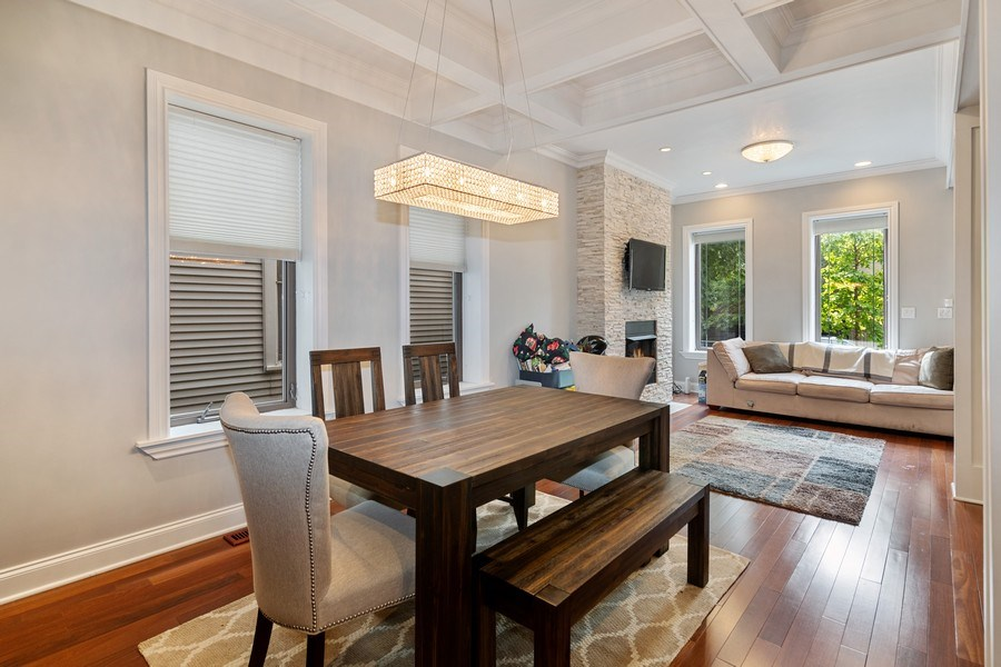 Real Estate Photography - 3417 N Oakley, Chicago, IL, 60657 - Living Room/Dining Room