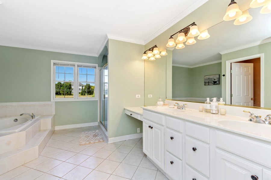 Real Estate Photography - 4N530 School, St. Charles, IL, 60175 - Master Bathroom