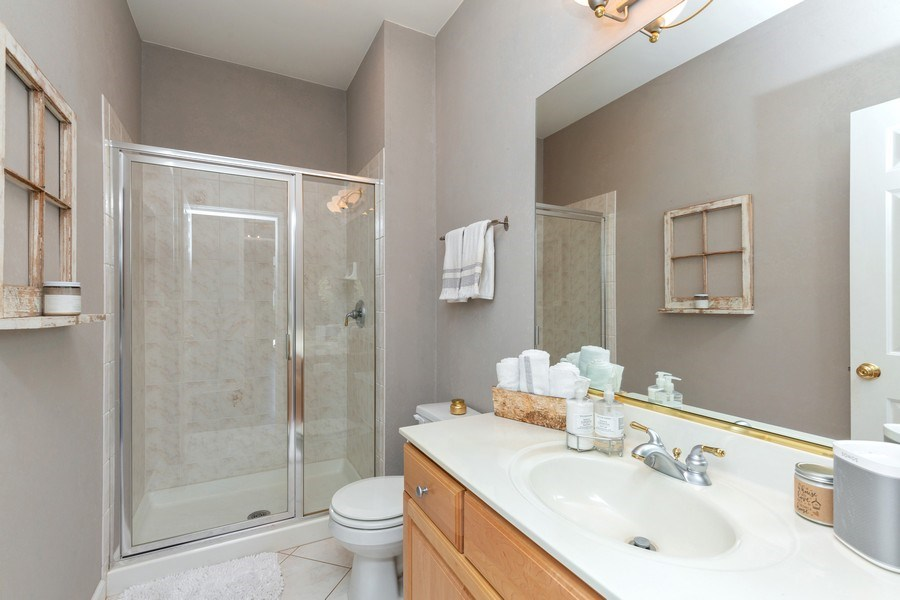 Real Estate Photography - 4N530 School, St. Charles, IL, 60175 - Downstairs full Bathroom perfect for Mother-in-law