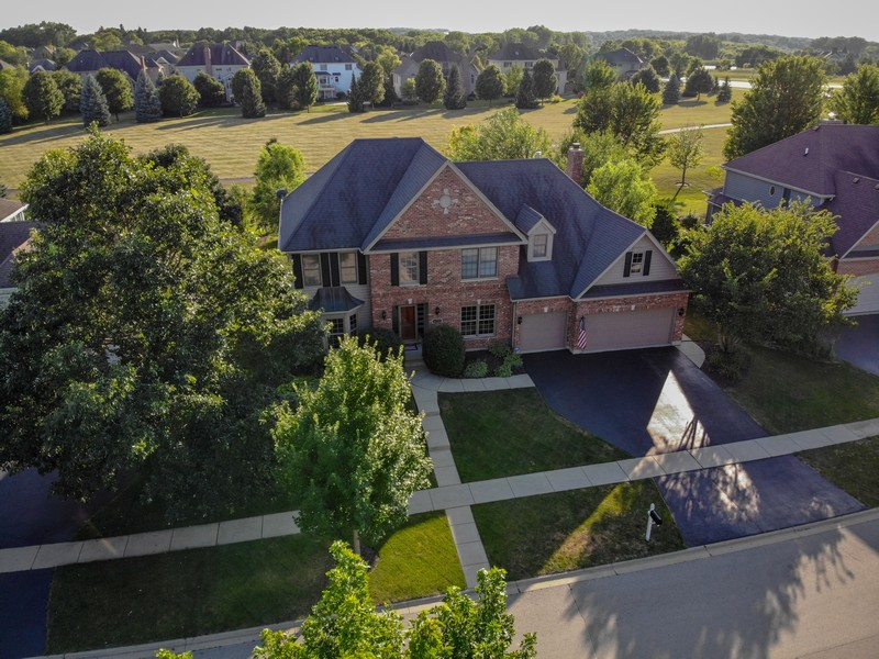 Real Estate Photography - 4N530 School, St. Charles, IL, 60175 - Drone Footage to show Amazing open field behind th