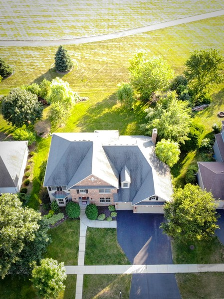 Real Estate Photography - 4N530 School, St. Charles, IL, 60175 - Drone footage to see the amazing open backyard