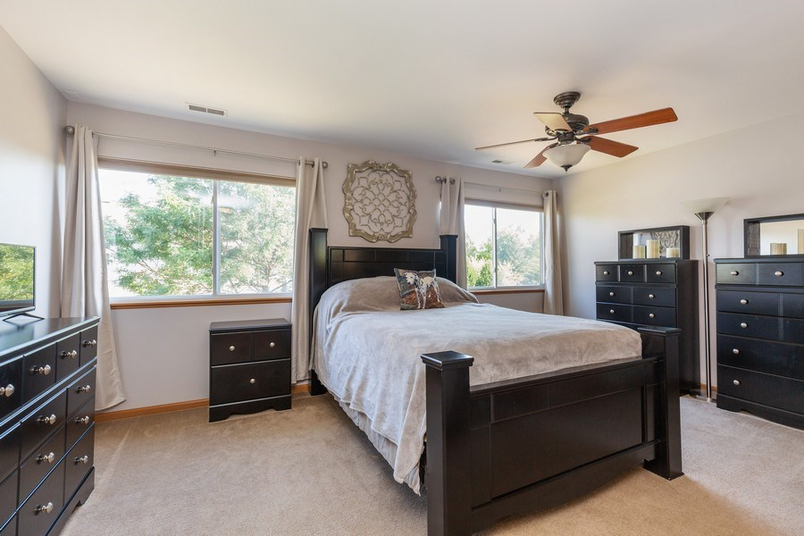 Real Estate Photography - 237 Nicole Dr. Unit D, South Elgin, IL, 60177 - Master Bedroom