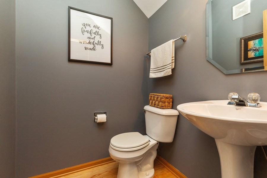 Real Estate Photography - 237 Nicole Dr. Unit D, South Elgin, IL, 60177 - Half Bath